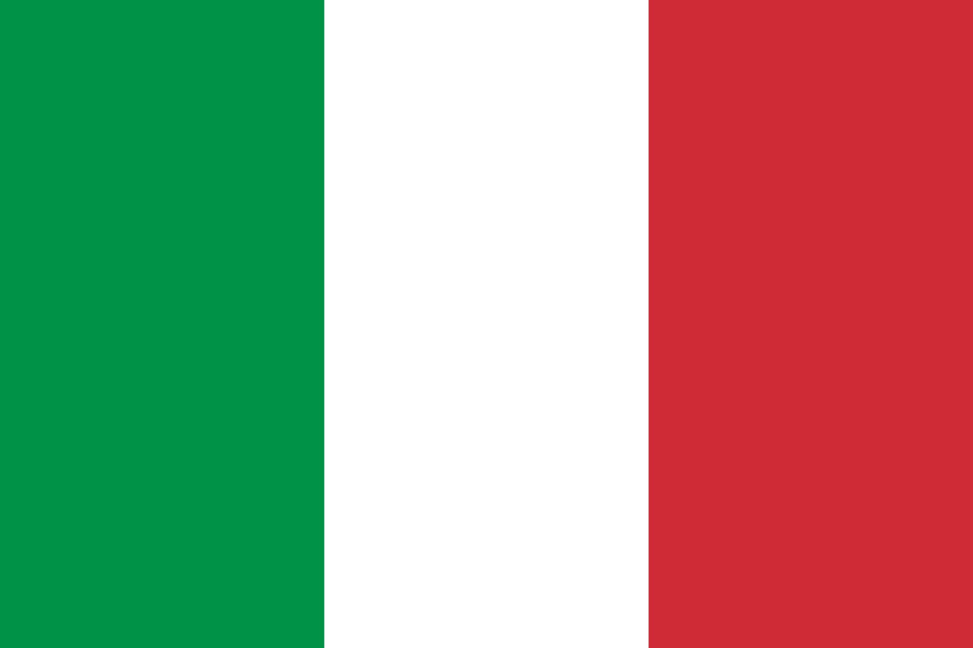 Bandeira da Itália • Bandeiras do Mundo